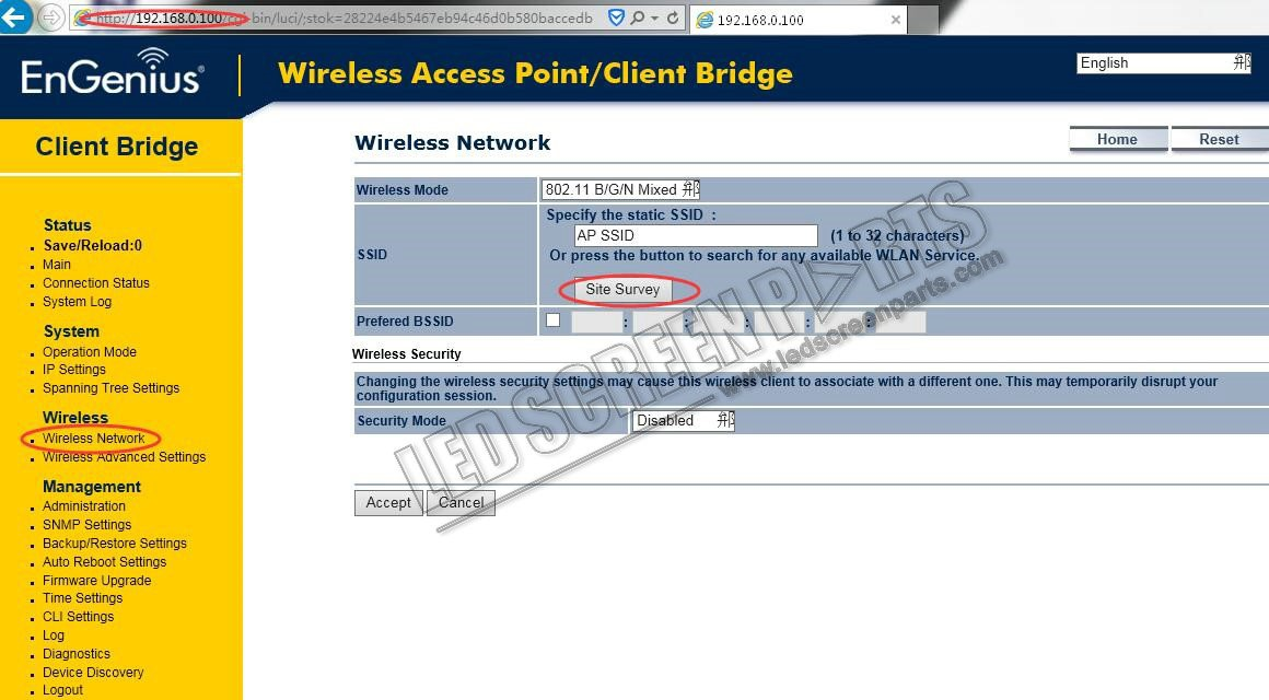 Engenisu wireless network