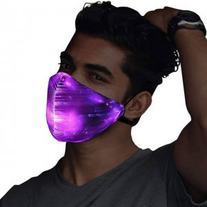 LED Fiber Optic Colorful Luminous Mask