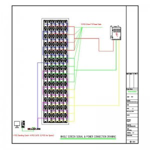 Customization LED Display Screen Project CAD Drawing