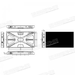 LED Display Screen Project CAD Drawing-1