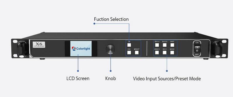 Colorlight X6 Controller interface 1