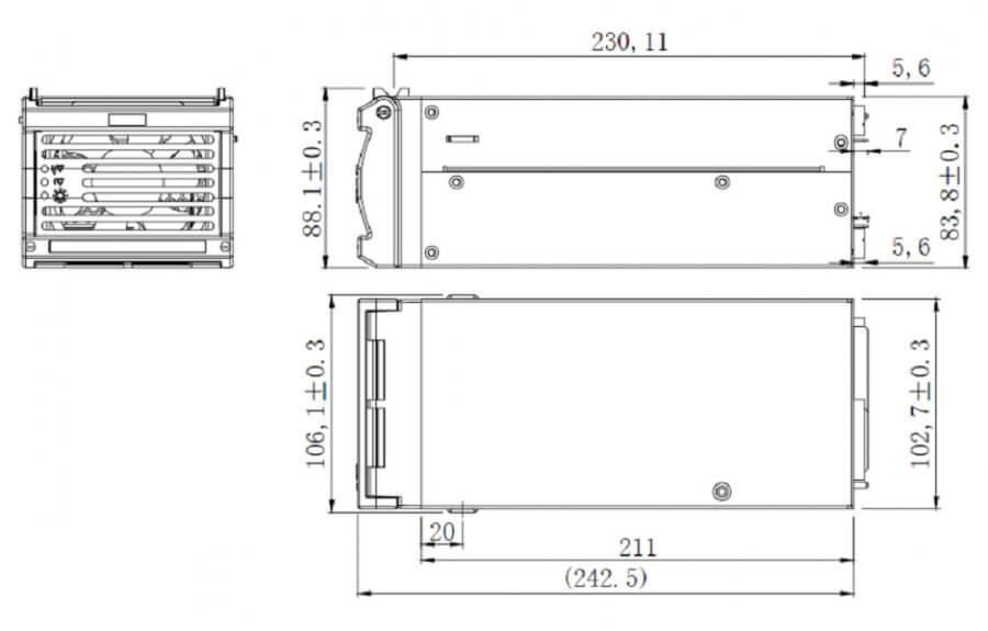 HWA3000-40-3000W-HWAWAN Power for LED Display-Server Power Supply-