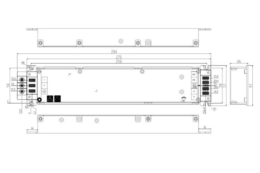 HWA804V6FA-B-HWAWAN Power Switching Power Supply size